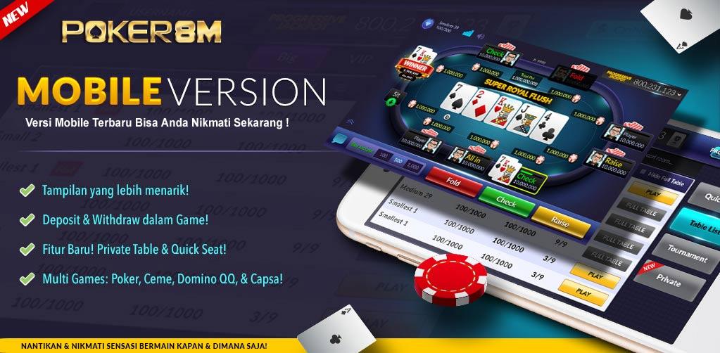Keuntungan bermain di POKER8M  Slide-pokermobile