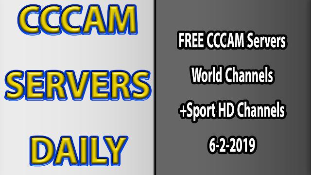 FREE CCCAM Servers World Channels +Sport HD Channels 6-2-2019
