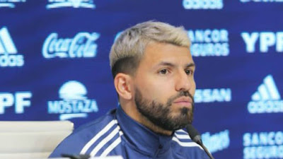 Kun Aguero rueda de prensa seleccion argentina
