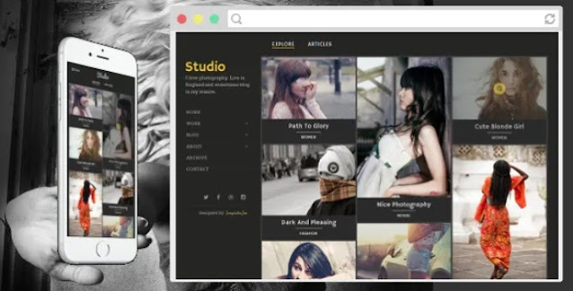 Professional Responsive Blogger Templates For Photography Websites   Blogger Themes