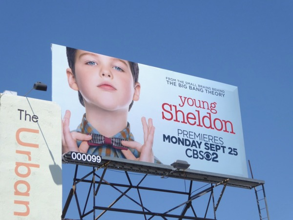 Young Sheldon tv series billboard