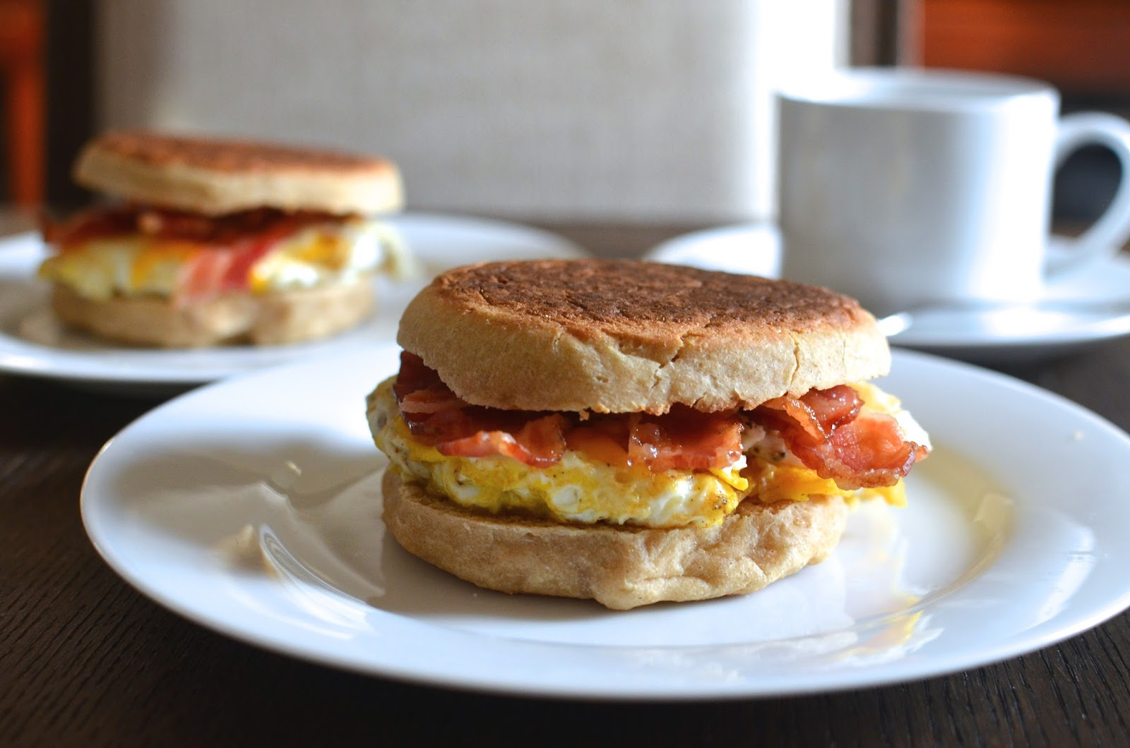 Playing with flour easy english muffin recipe this recipe makes fairly sizable english muffins about 4 inches round so its a great size for hearty weekend breakfast sandwiches forumfinder Gallery