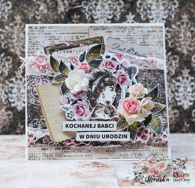Kartka z okazji 80 urodzin Babci/ Birthday card for Grandma
