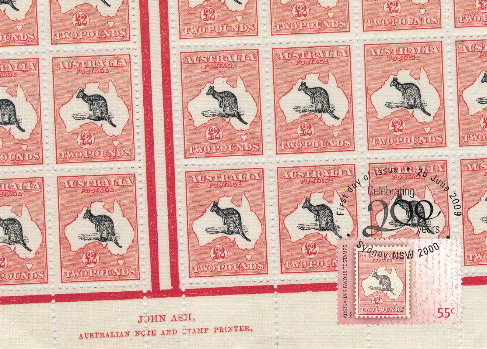 Map Of Australia 26th Parallel.My Postcard And Stamp Week Australia Kangaroo And Map Stamps
