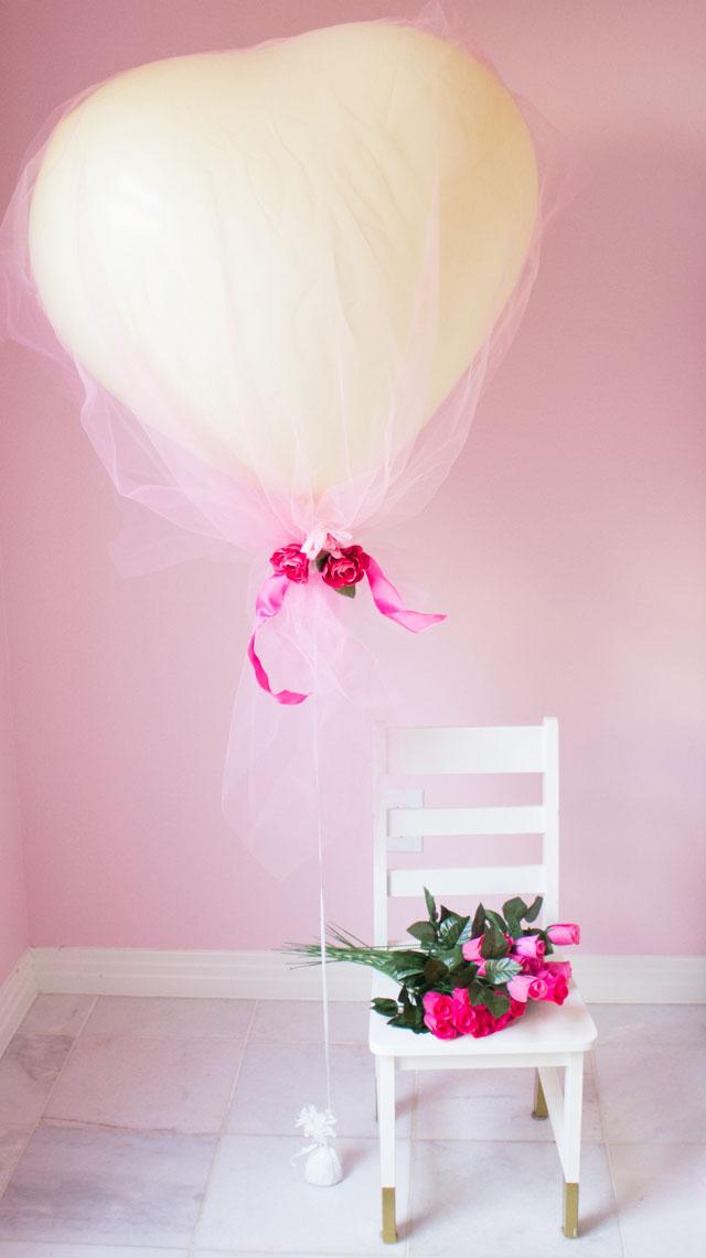 DIY Tulle Covered Heart Balloons  Design Improvised