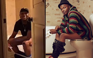 wizkid and davido in the toilet