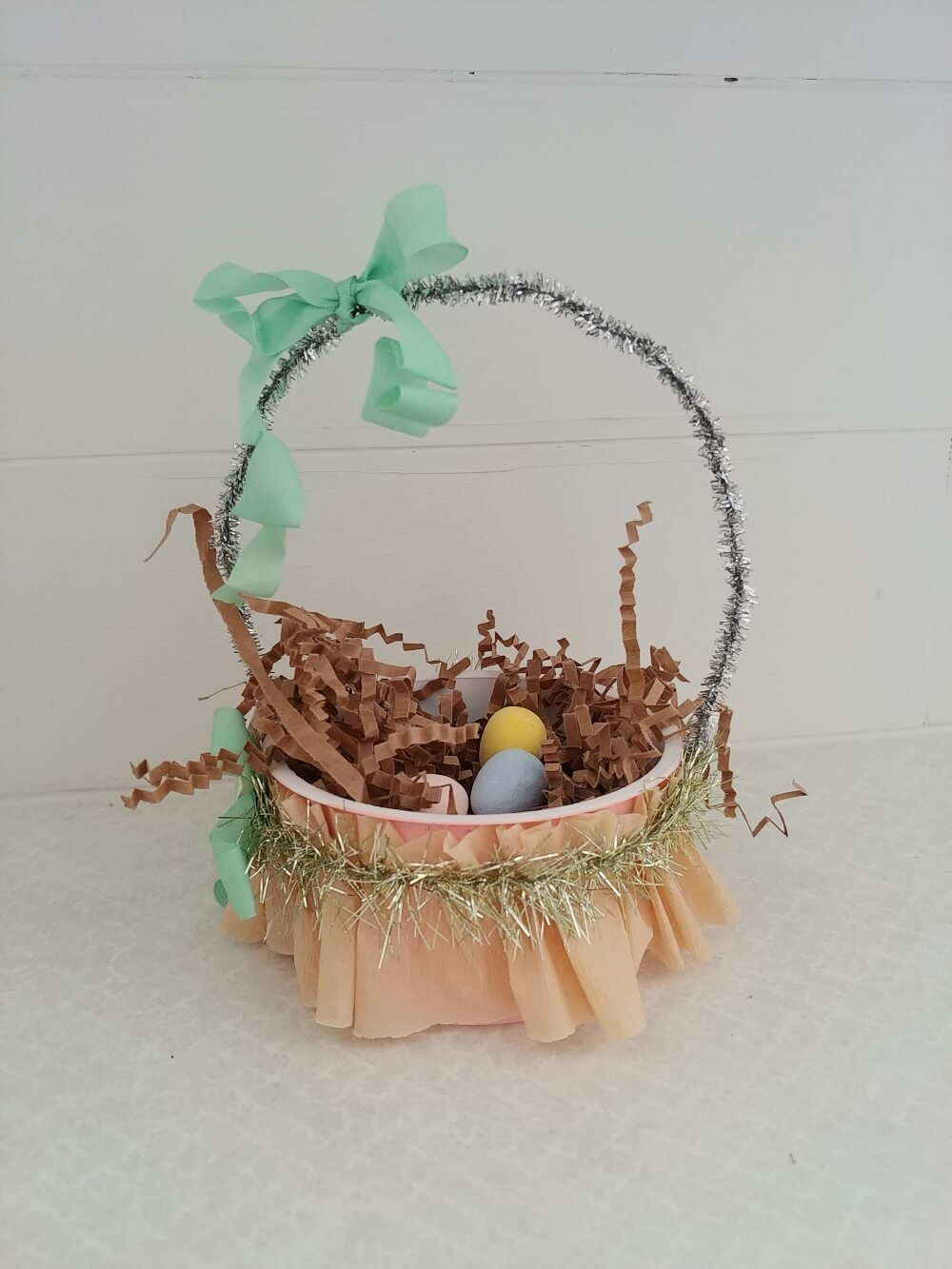 Upcycled Yogurt Container Easter Baskets