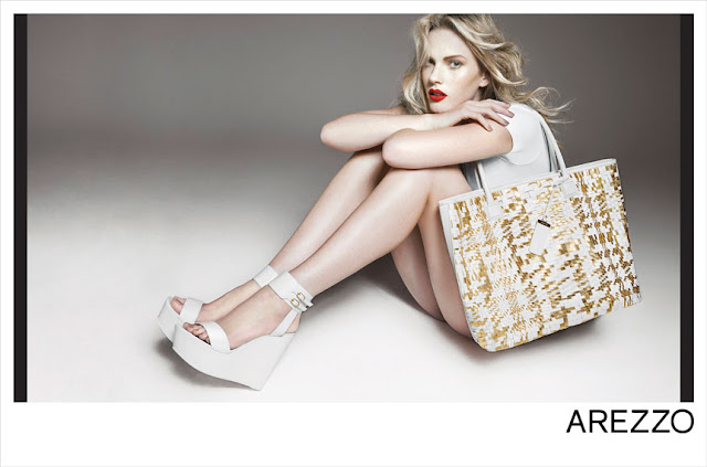 Model Anne Vyalitsyna Arezzo shoe photshoot