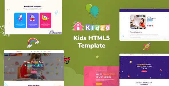 Best Kids and Children HTML Template