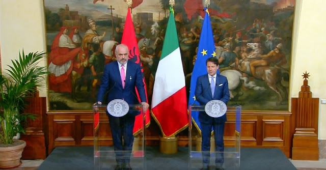 Rama in Italy; Giuseppe Conte: Albania is a friendly country