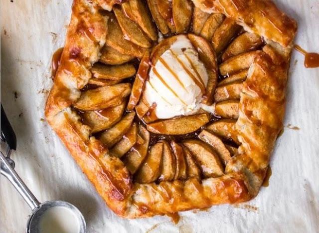 Salted Caramel Apple Galette #desserts #apple