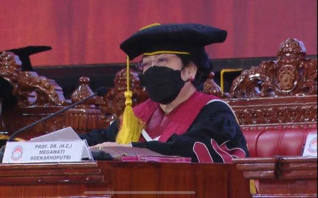 Orasi Ilmiah Megawati Singgung Cita-cita 100 Tahun Partai Komunis China
