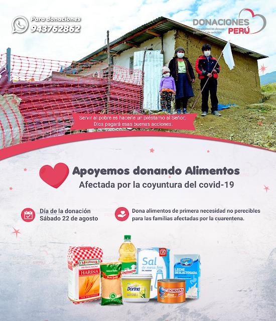 Apoyemos donando alimentos para las familias en extrema pobreza de Villa el Salvador