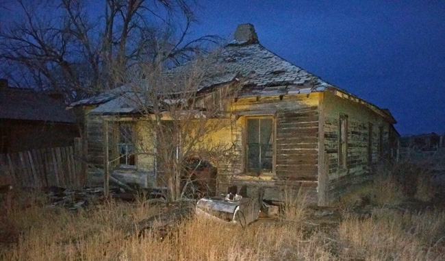 Abandoned house in Model Colorado ghost town