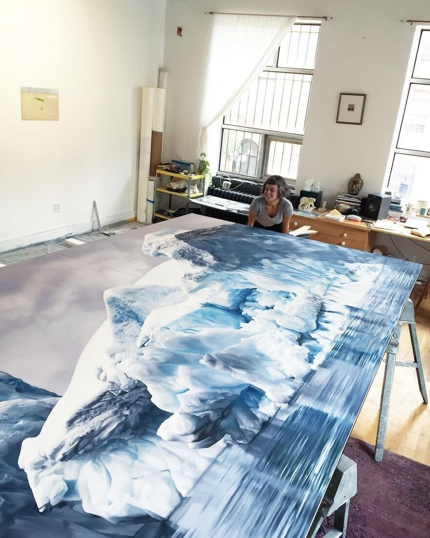04-Last-look-Zaria-Forman-Ice-Snow-and-Water-Pastel-Drawings-www-designstack-co