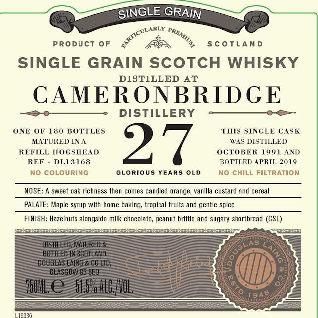 Old Particular Cameronbridge Single Grain Scotch Whiskey 27-Year