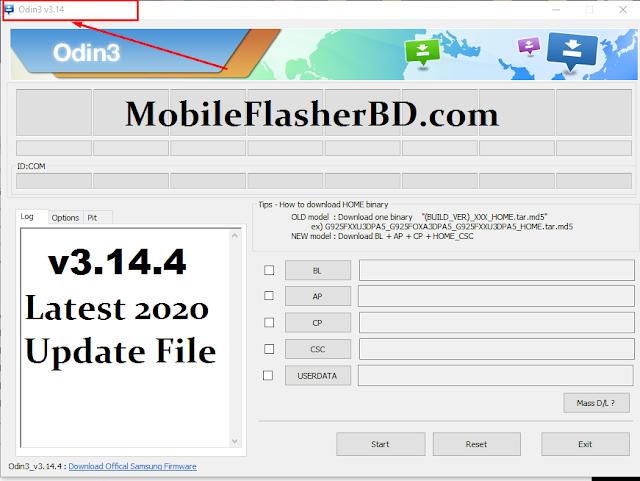 Odin3 v3.14.4 Latest Update  Samsung USB Flashing Tool 2020 Free Download By Jonaki Telecom