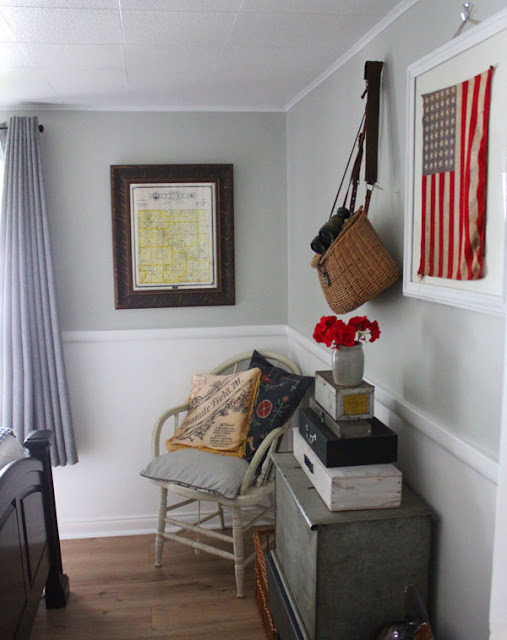 Rustic Cottage Guest Bedroom- Thrift The Look- Itsy Bits And Pieces