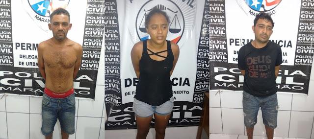 Trio é Preso pela Polícia Militar, após efetuar roubo em Urbano Santos