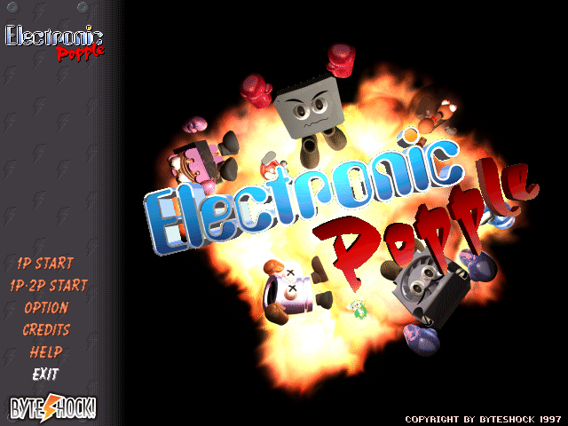 Electronic Popple title screen