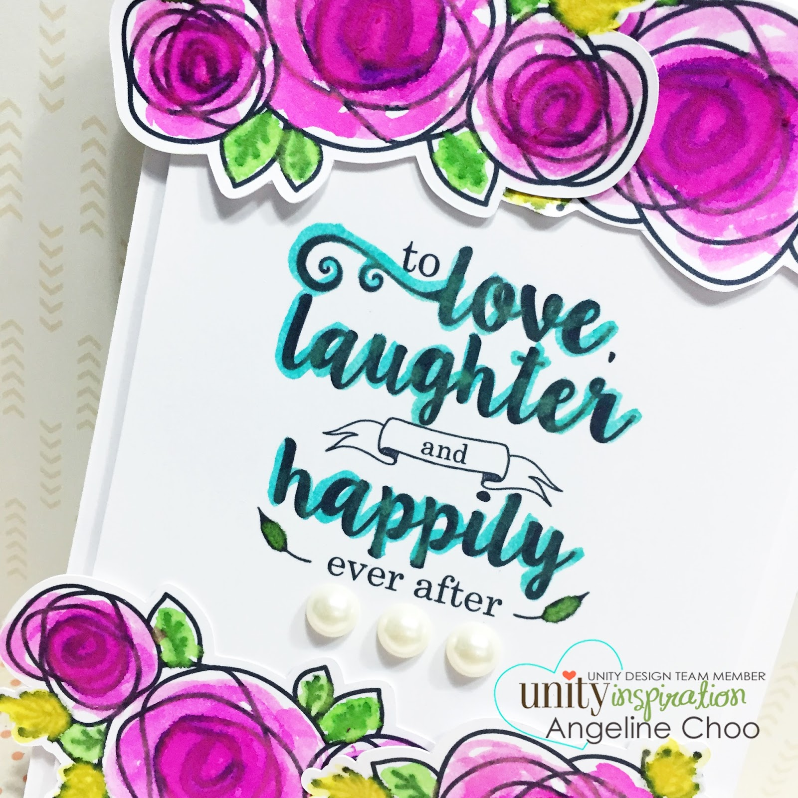 ScrappyScrappy: Love, laughter and happily ever after #scrappyscrappy #unitystamp #card #dylusions #stamp