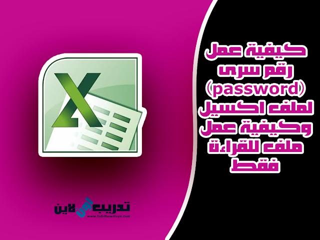 كيفية عمل رقم سرى (password) لملف اكسيل وكيفية عمل ملف للقراءة فقط