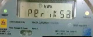 arti tulisan periksa pada layar LCD meteran PLN prabayar