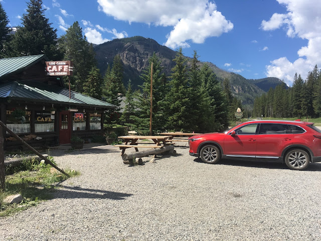 2017 Mazda CX-9 Grand Touring at the Log Cabin Cafe in Silver Gate, Montana