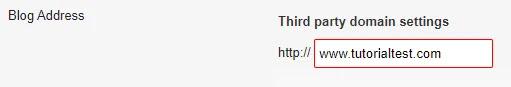 Masukan domain tld yang sudah anda miliki untuk custom domain blogger