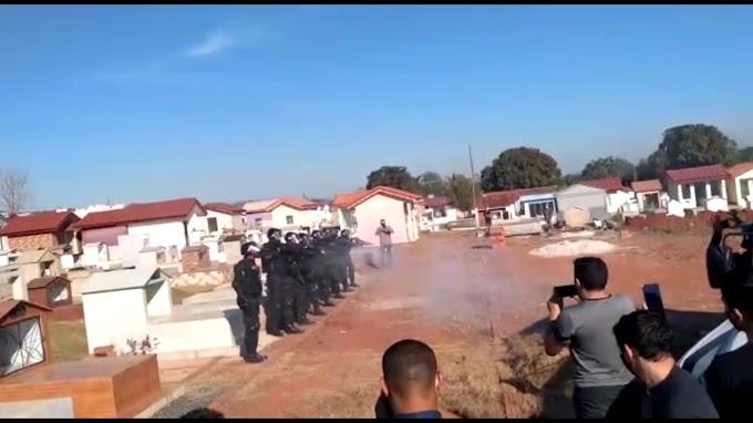 Com Salva de tiros, Policial Penal Sidney dos Reis é sepultado em Alta Floresta D' Oeste, Veja vídeo