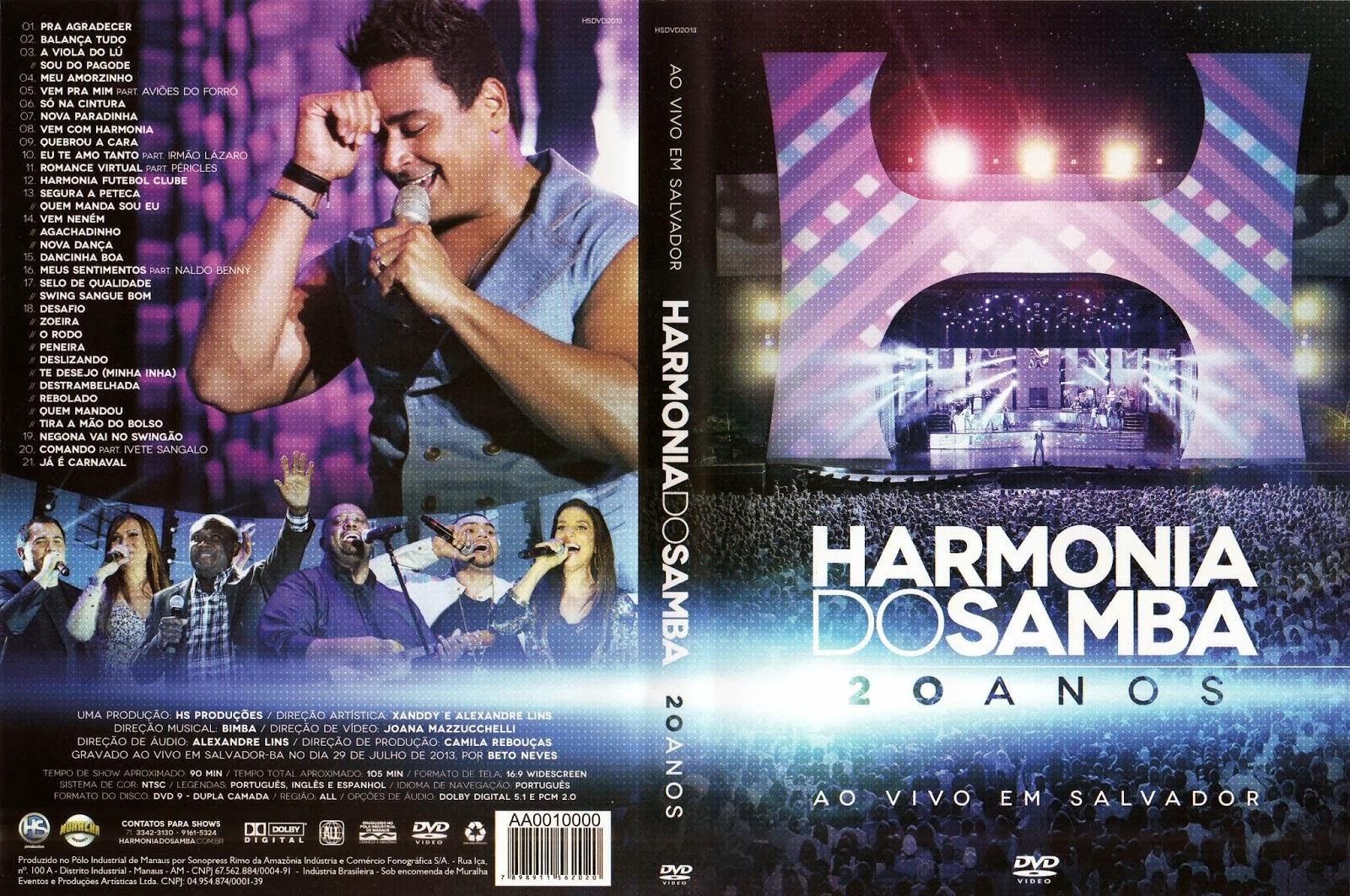 audio do dvd de harmonia do samba em manaus