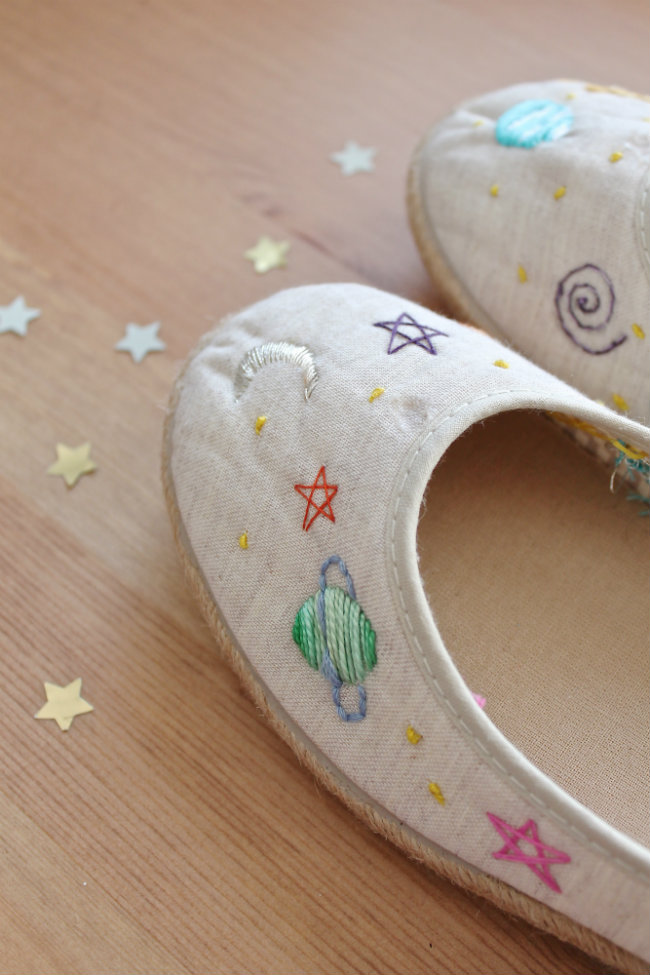 Monday Diy: Refashion Tag Ballerine Ricamate Embroidery Shoes