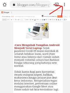 Cara mengubah tampilan android seperti laptop