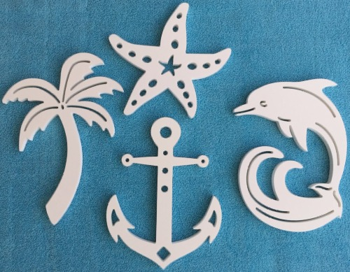 White Outdoor Coastal Wall Plaques