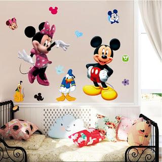 Wallpaper Dinding Lucu Gambar Mickey Mouse Untuk Kamar Anak
