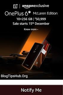 OnePlus 6T McLaren pre order amazon