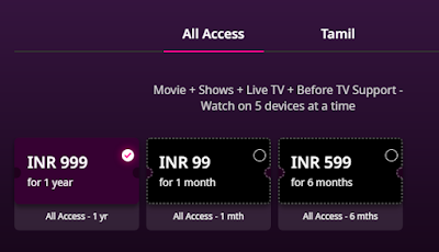 zee5 subscription plan