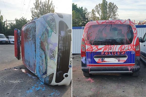 Rungis : Une dizaine de véhicules de police dégradés au garage sud de la préfecture de police