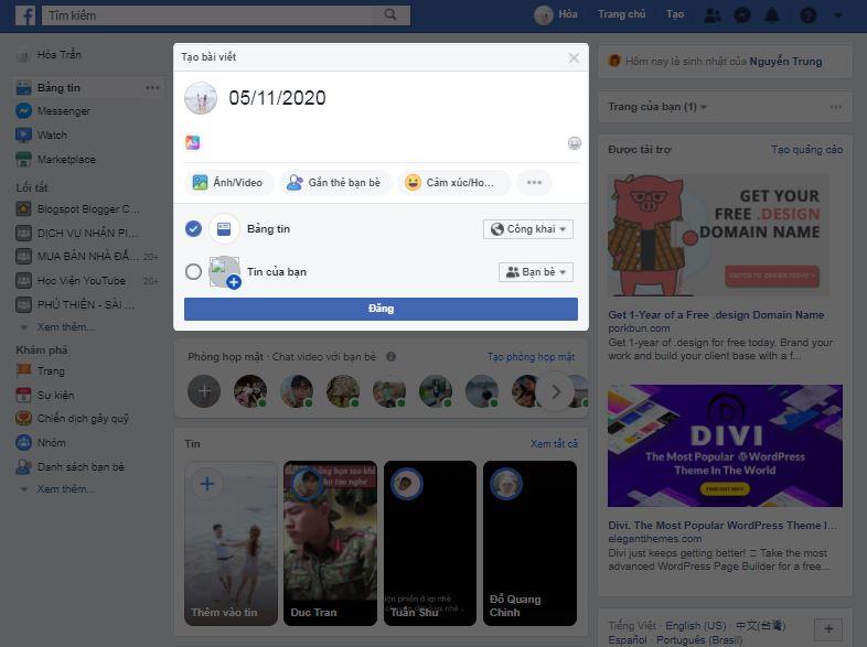 Hướng dẫn quay lại giao diện Facebook cũ