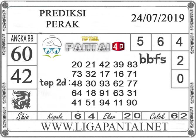 """PREDIKSI TOGEL """"PERAK"""" PANTAI4D 24 JULI 2019"""