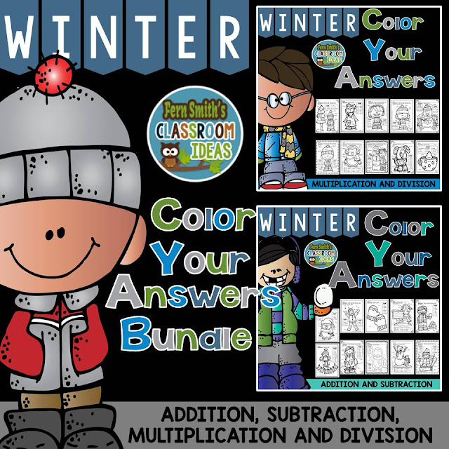 http://www.teacherspayteachers.com/Product/Winter-Fun-Color-Your-Answers-Addition-Subtraction-Multiplication-Division-1659610