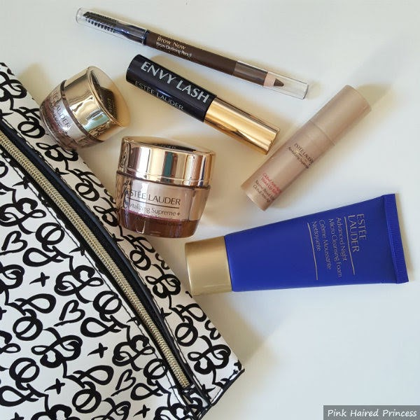 estee lauder makeup bag and free skincare and makeup items