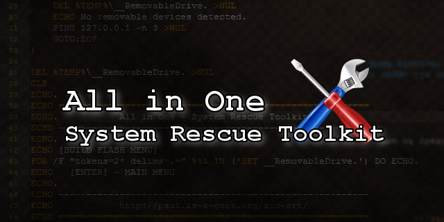 AIO – System Rescue Toolkit 2016-05-15 [Navaja suiza de reparación de sistemas tanto en modo LIVE como en ejecutable desde Windows]