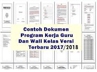 Contoh Program Kerja Guru/Wali Kelas Tahun Ajar 2017/2018