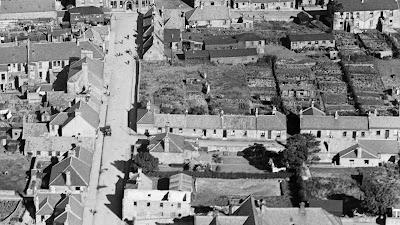 Plantation Street Lochgelly with garden allotments