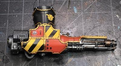 Adeptus Titanicus Legio Ignatum Warlord Titan WIP - right arm Belicosa Volcano Cannon