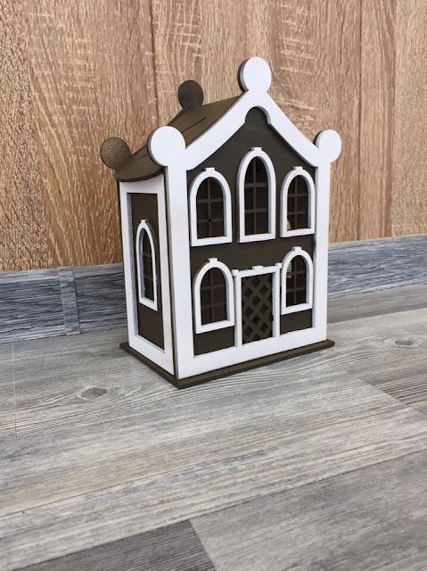 Кукольные домики из фанеры,домики копилки для праздников,лазерная резка кукольных домиков,