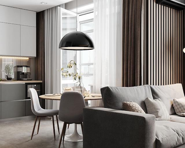 Thiết kế và thi công hoàn thiện nội thất căn hộ chung cư Celadon City quận Tân Phú - Phòng bếp và bàn ăn