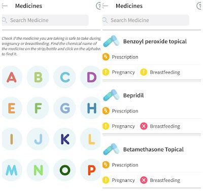 list of medicine in asianparent app