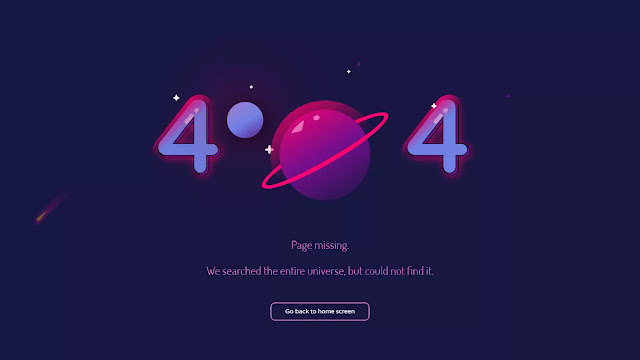 Lost in Space - 404 Error UI  Page